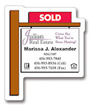 Real EState of Sold Sign Shape Magnets